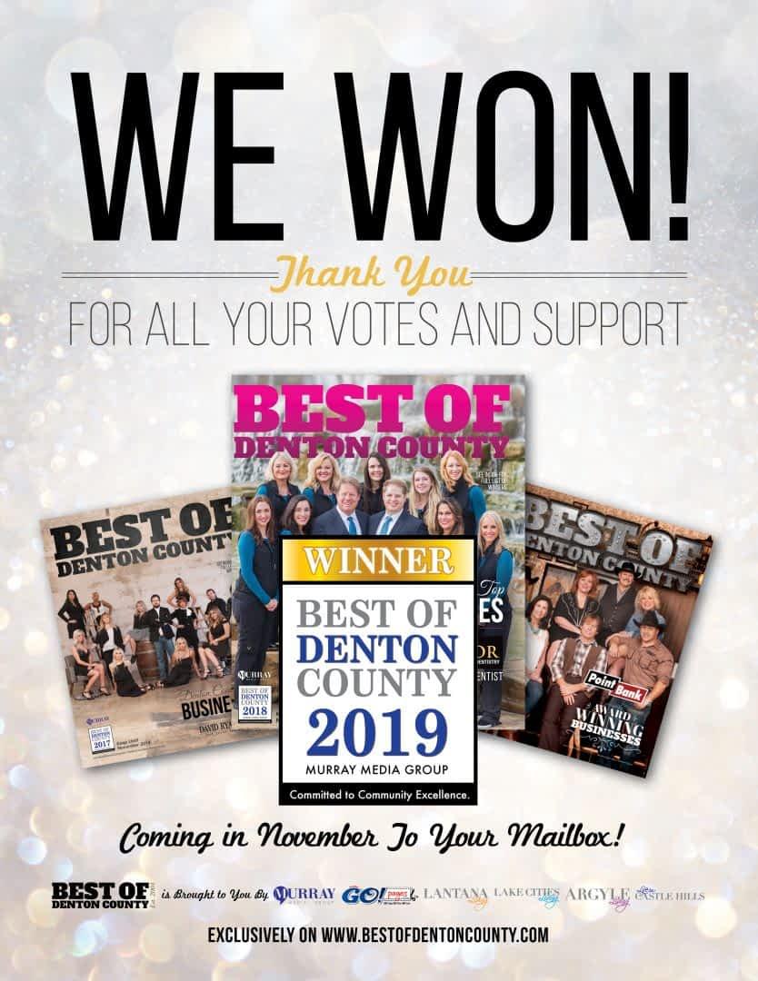 We Won Best of Denton County