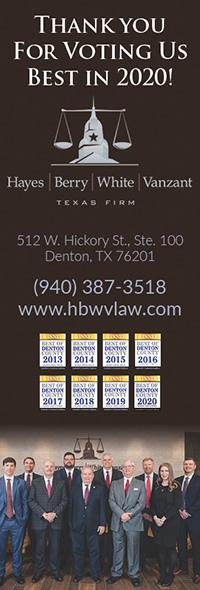 Hayes, Berry, White & Vanzant Law Winner 2020