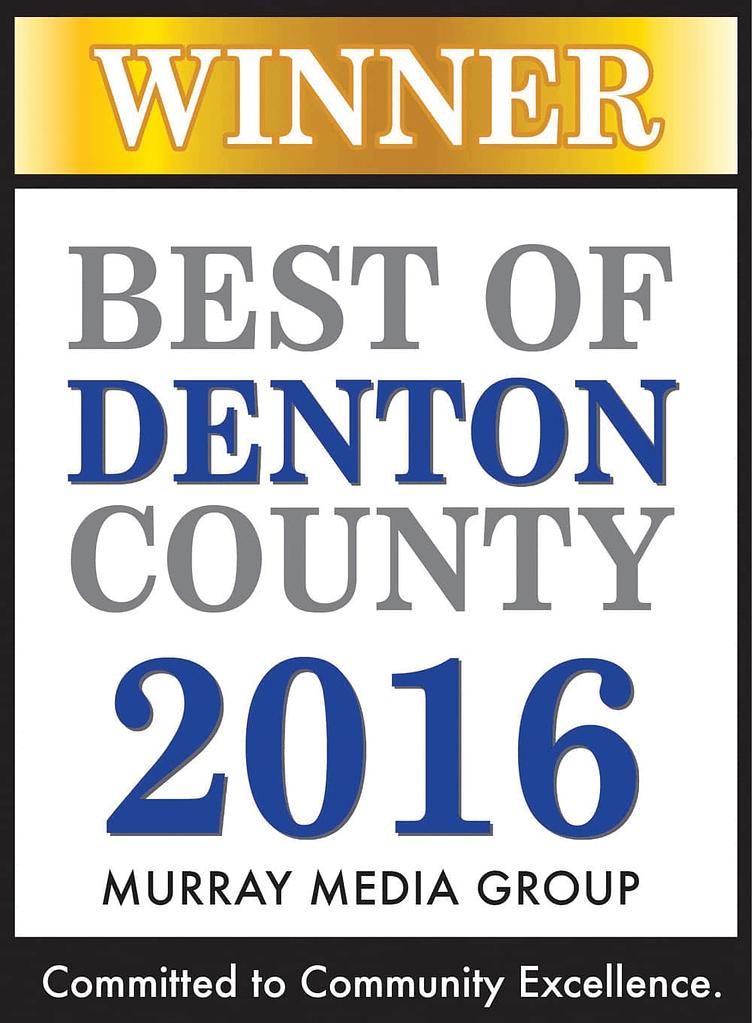 Best of Denton County 2016 Award