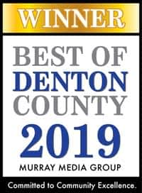 Best of Denton County 2019 Award